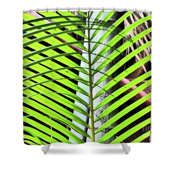 Crisscrossing Palms Shower Curtain