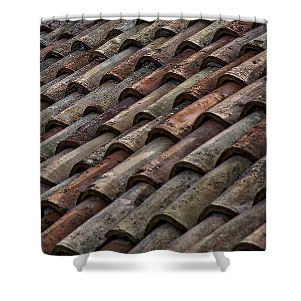 Croatian Roof Tiles Shower Curtain