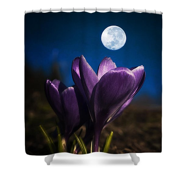Crocus Moon Shower Curtain