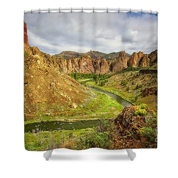Crooked River In Smith Rock State Park Shower Curtain