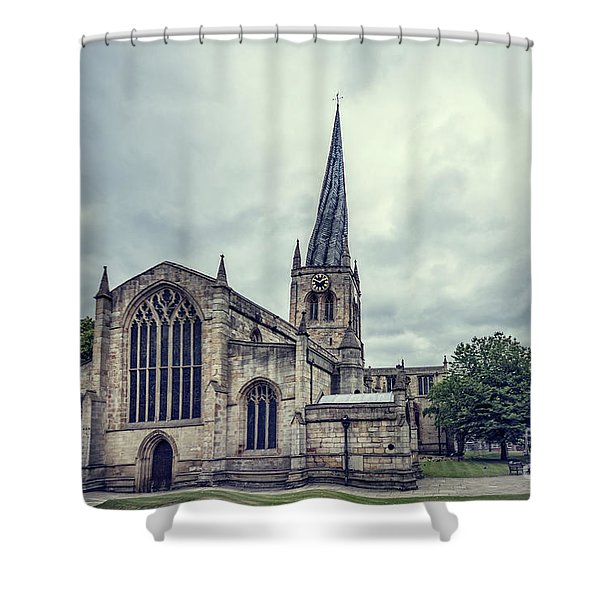 Crooked Spire Shower Curtain