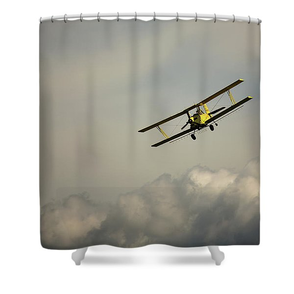 Crop Duster Shower Curtain