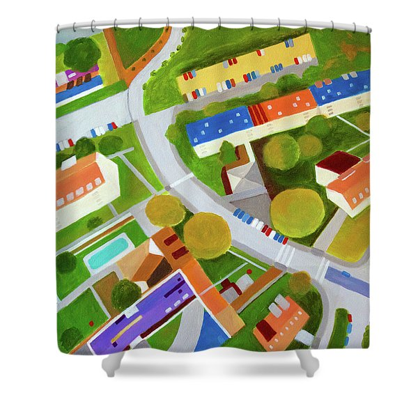 Cross Country Roads Shower Curtain