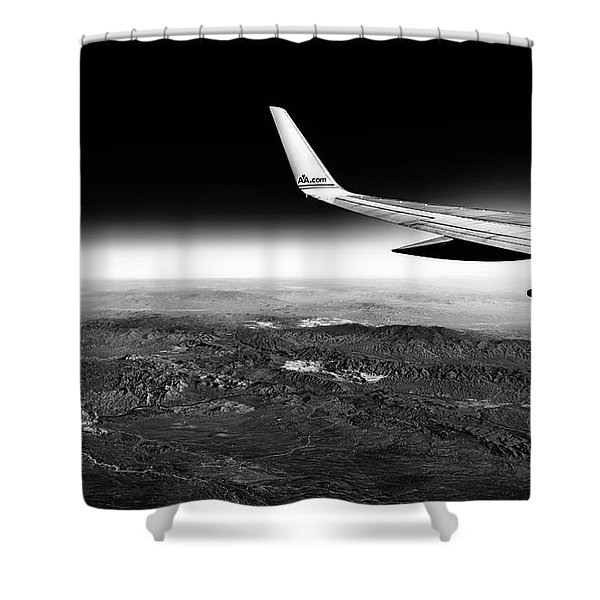 Cross Country Via Outer Space Shower Curtain