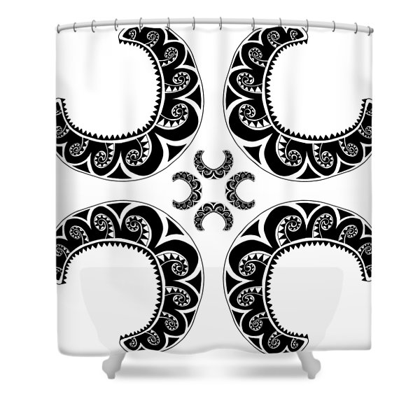 Cross Maori Style Shower Curtain