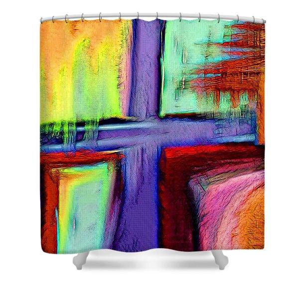 Cross Of Hope Shower Curtain