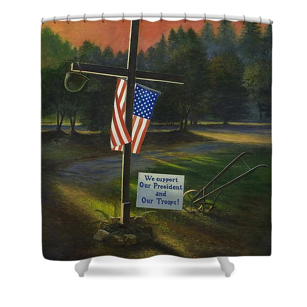 Cross Of Remembrance Shower Curtain