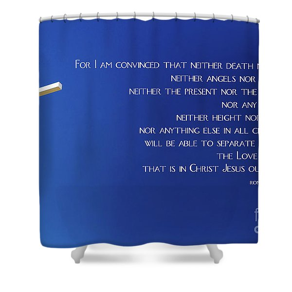 Cross With Blue Sky Shower Curtain