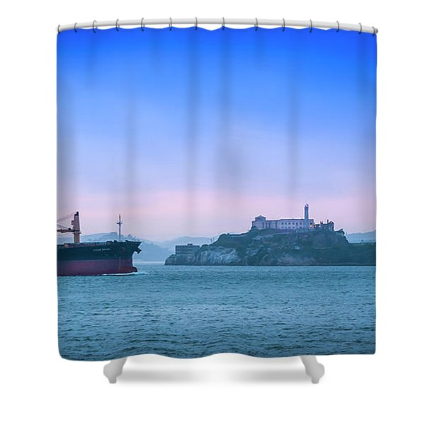 Crossing Alcatraz Shower Curtain