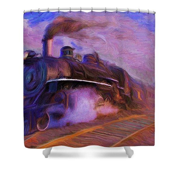 Crossing Rails Shower Curtain