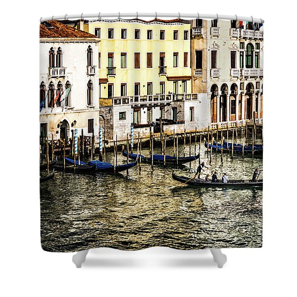 Crossing The Canal Shower Curtain
