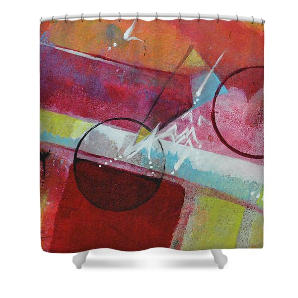 Crossing The Line Shower Curtain