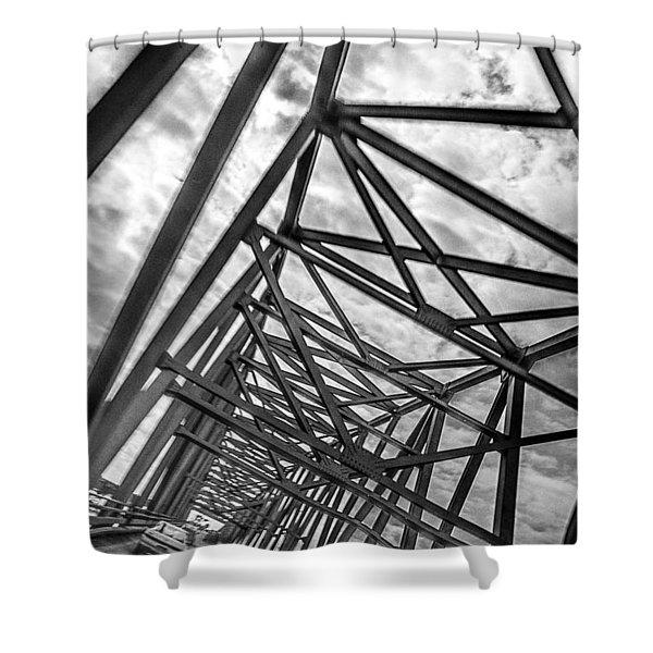 Crossing Through The Chesapeake Bay Bridge Shower Curtain
