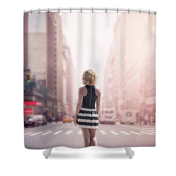 Crosstown Swing Shower Curtain