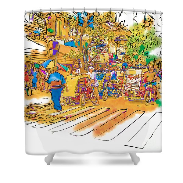 Crosswalk In The Philippines Shower Curtain