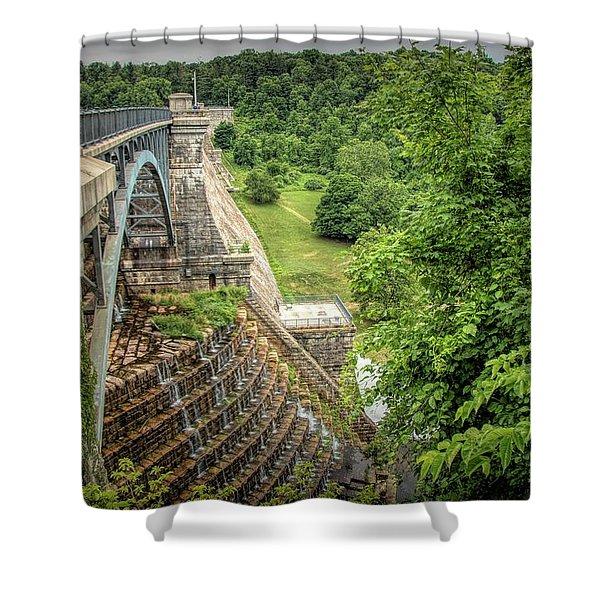 Croton Dam New York Shower Curtain