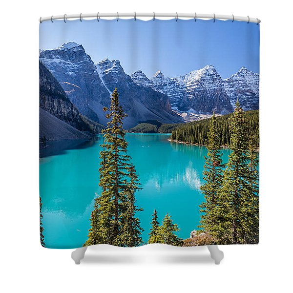 Crown Jewel Of The Canadian Rockies Shower Curtain