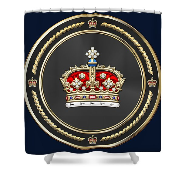 Crown Of Scotland Over Blue Velvet Shower Curtain