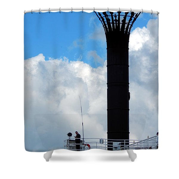 Crowned Clouds Shower Curtain