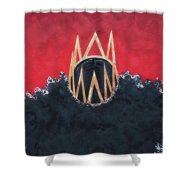 Crowned Royal Shower Curtain