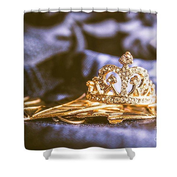 Crowned Tiara Jewellery Shower Curtain