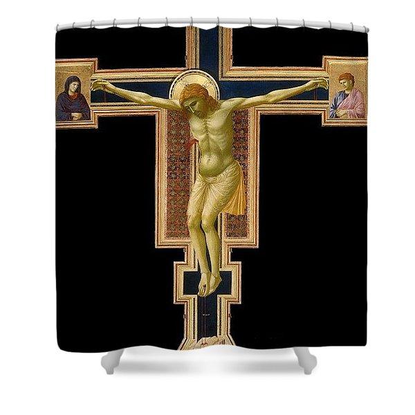 Crucifix Giotto Di Bondone Shower Curtain