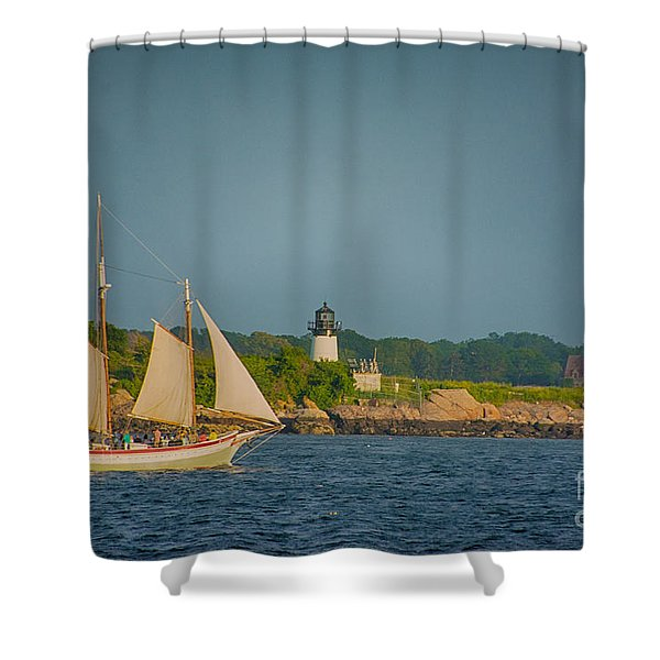 Cruise At Sunset Shower Curtain
