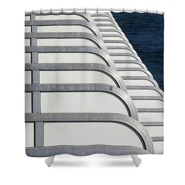 Cruise Ship's Balconies Shower Curtain