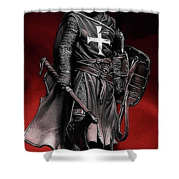 Crusader Warrior - Medieval Warfare Shower Curtain