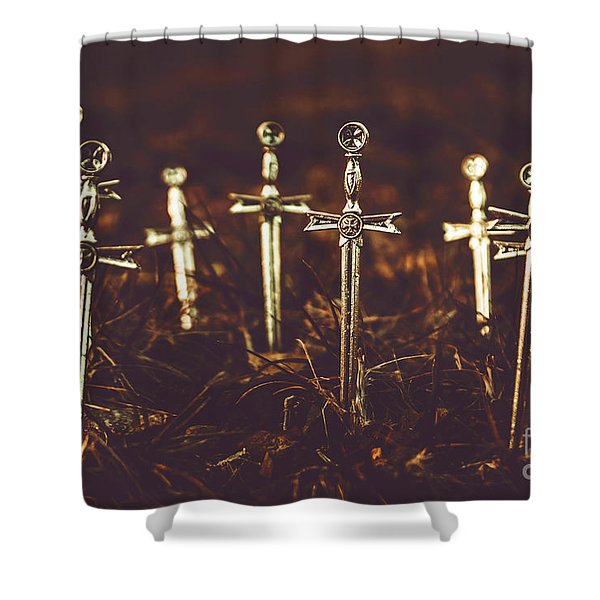 Crusaders Cemetery Shower Curtain