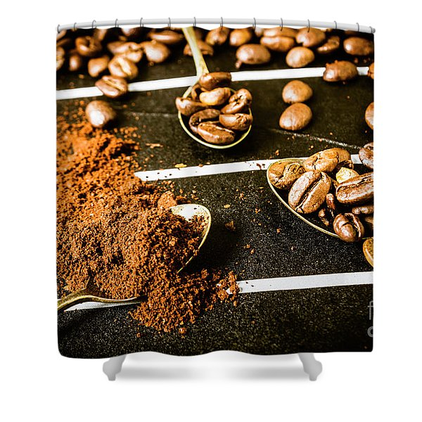 Crush And Serve Coffee House Shower Curtain
