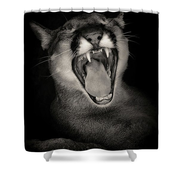 Cruz Yawning Shower Curtain
