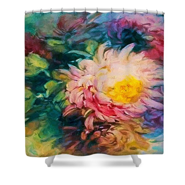 Chrysanthemums Shower Curtain