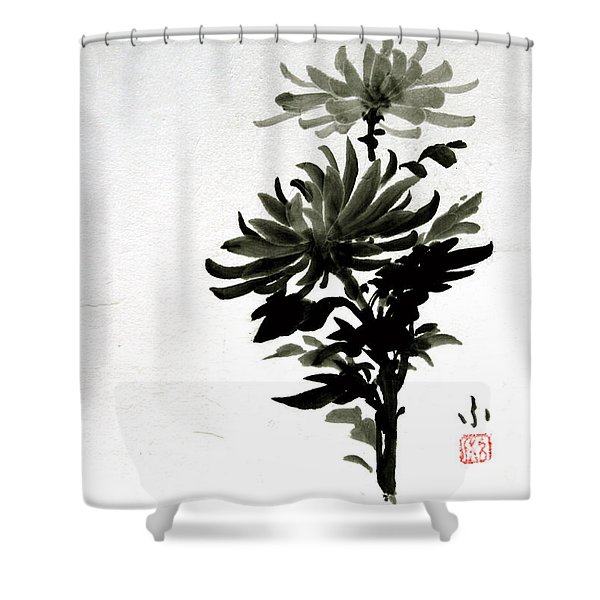 Crysanthemums Shower Curtain