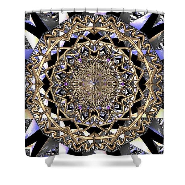 Shower Curtain featuring the digital art Crystal Ahau  by Robert Thalmeier