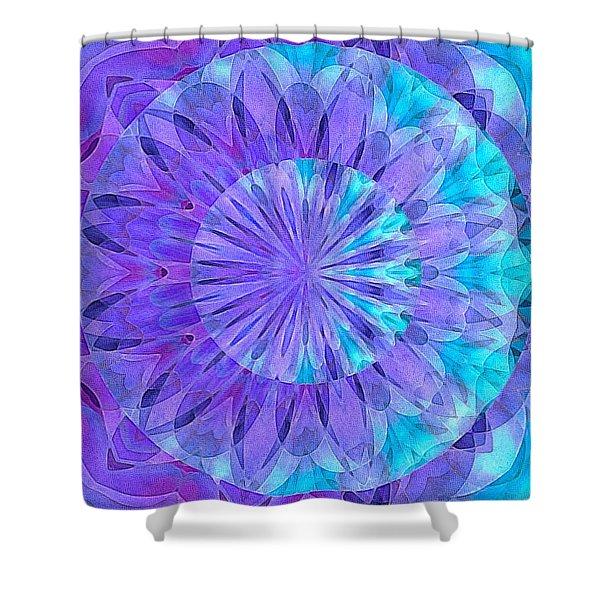 Crystal Aurora Borealis Shower Curtain