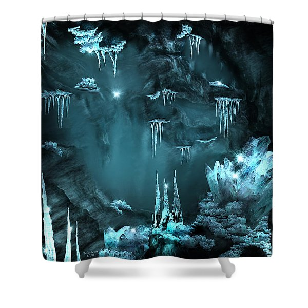 Crystal Cave Mystery Shower Curtain