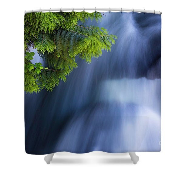 Crystal Creek Waterfalls Shower Curtain