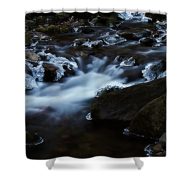 Crystal Flows In Hdr Shower Curtain