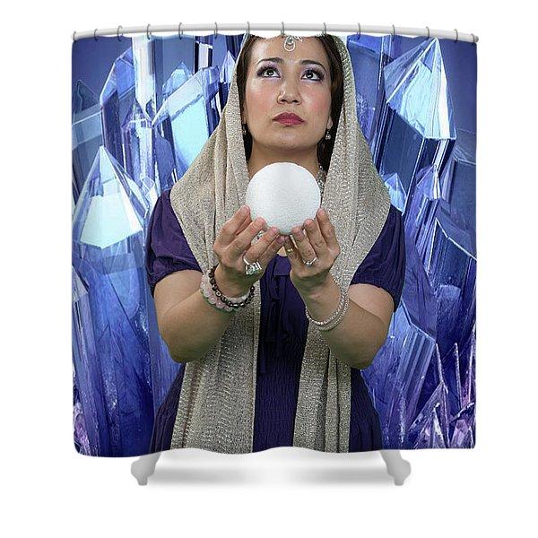 Crystal Goddess Shower Curtain