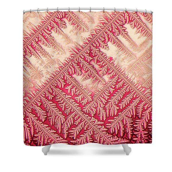 Crystal In Red Pigment Shower Curtain