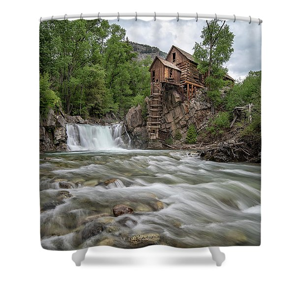 Crystal Mill Colorado 2 Shower Curtain