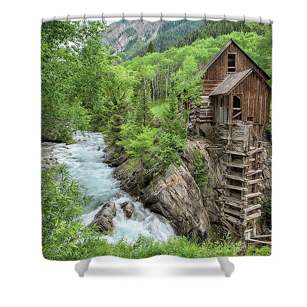 Crystal Mill Colorado 3 Shower Curtain