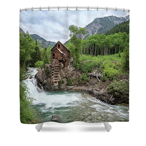 Crystal Mill Colorado 4 Shower Curtain