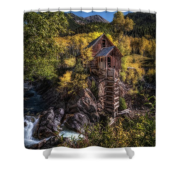 Crystal Mill Colorado Shower Curtain