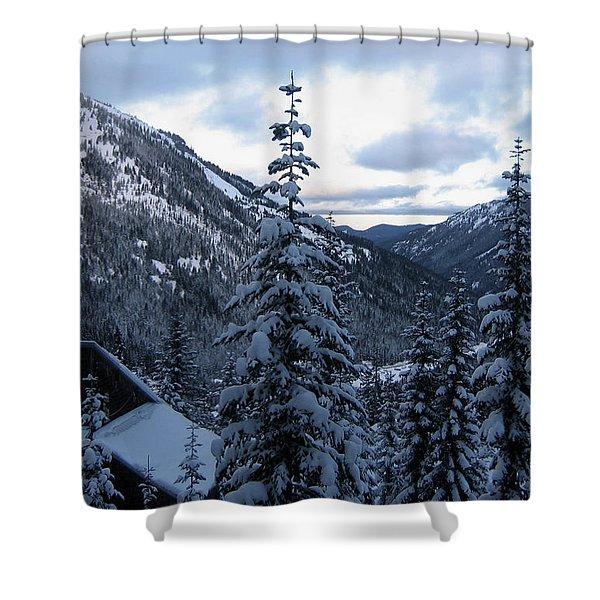 Crystal Mountain Dawn Shower Curtain