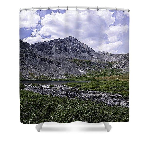 Crystal Peak 13852 Ft Shower Curtain