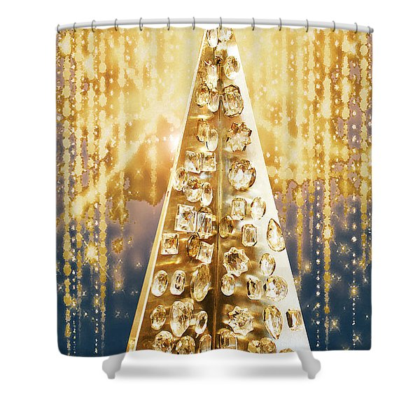 Crystal Tree Shower Curtain