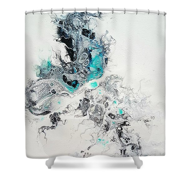Crystals Of Ice Shower Curtain