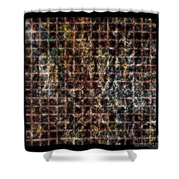 Grid Series 3-3 Shower Curtain